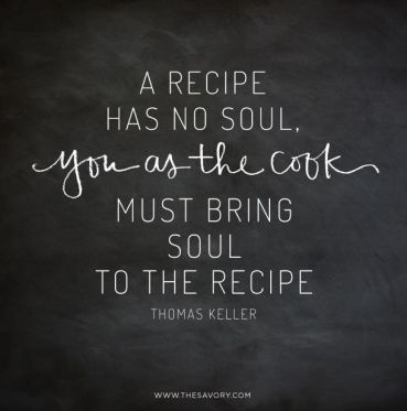 a recipe has no soul