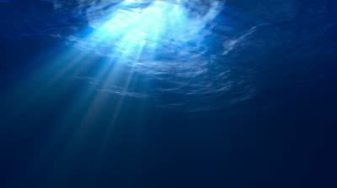 light shining down through the ocean